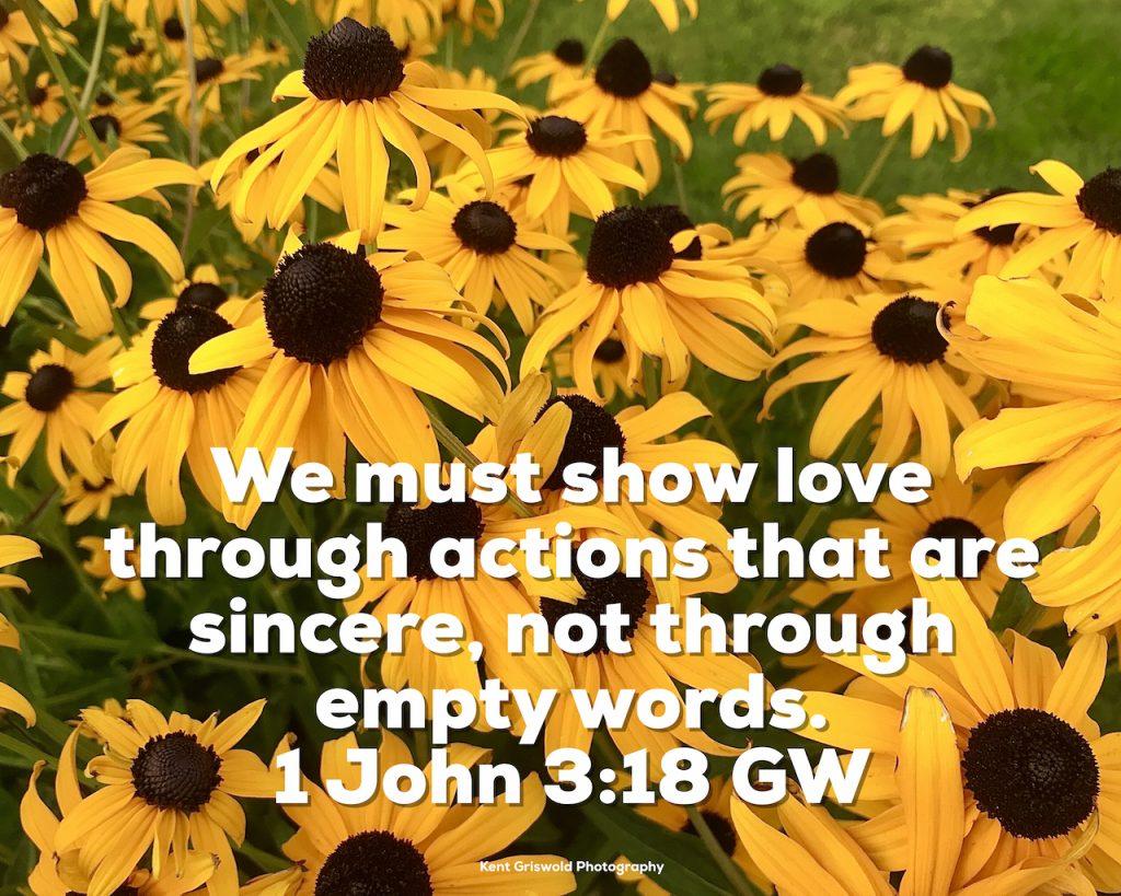 Actions - 1 John 3:18
