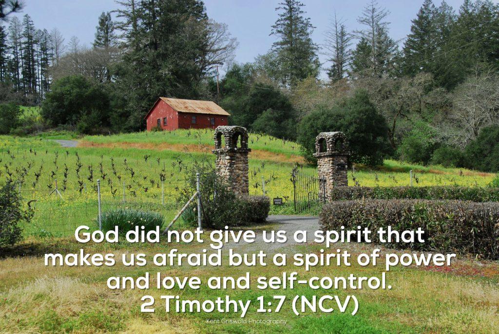 Afraid - 2 Timothy 1:7