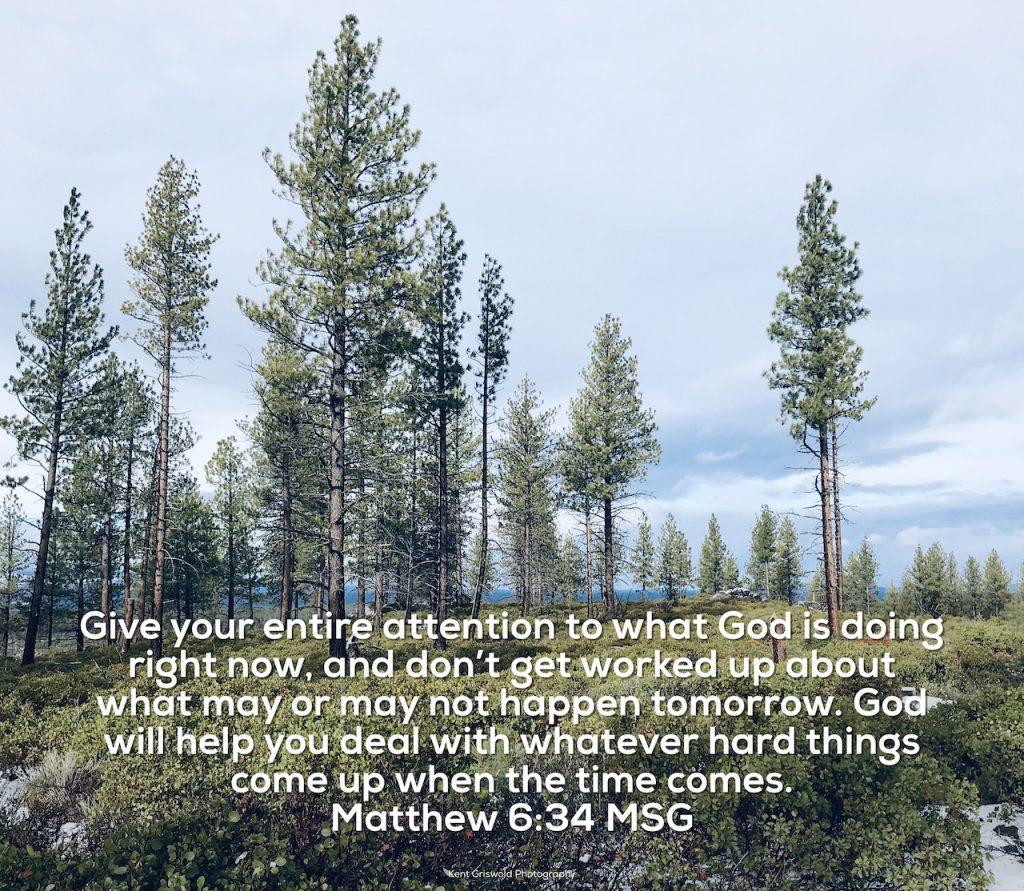 Attention - Matthew 6:34