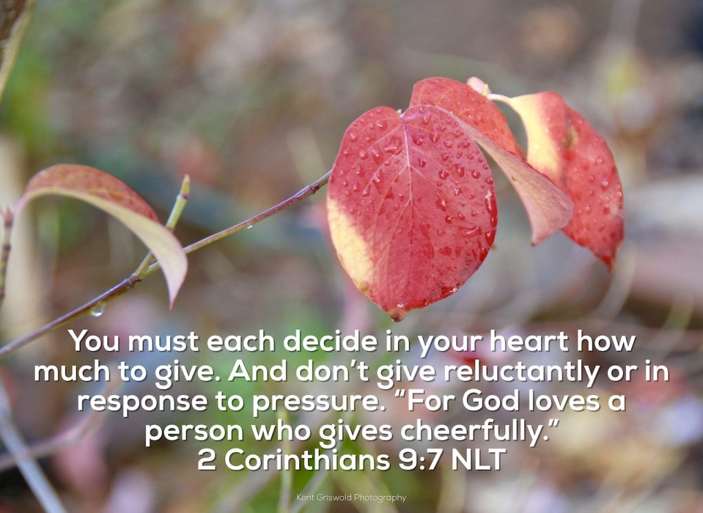 Giving - 2 Corinthians 9:7