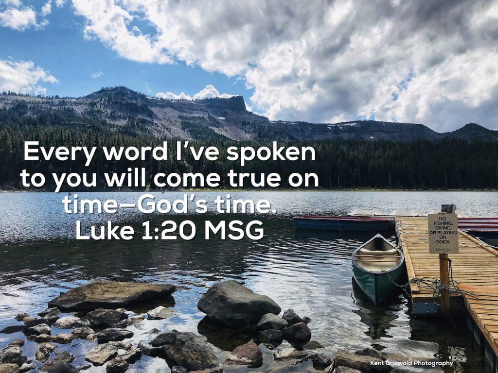 God's Word - Luke 1:20
