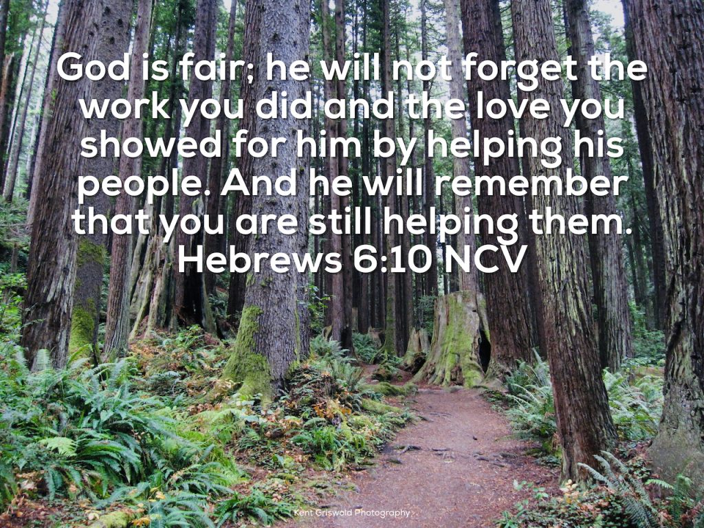 Helping Others - Hebrews 6:10