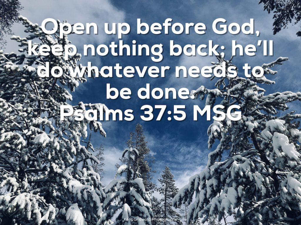 Seeking God - Psalms 37:5
