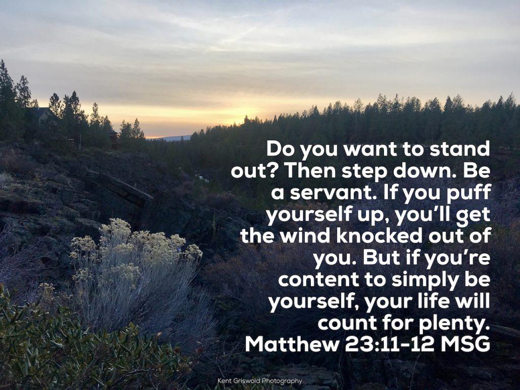 Be Yourself - Matthew 23:11-12