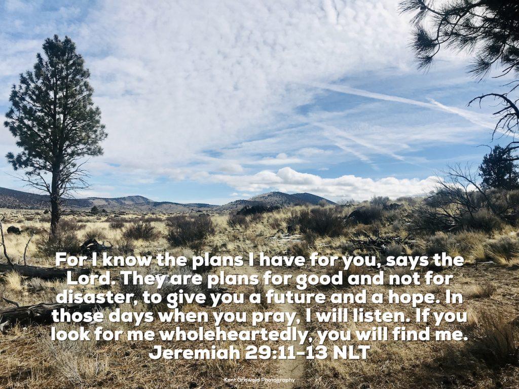 Plans - Jeremiah 29:11-13