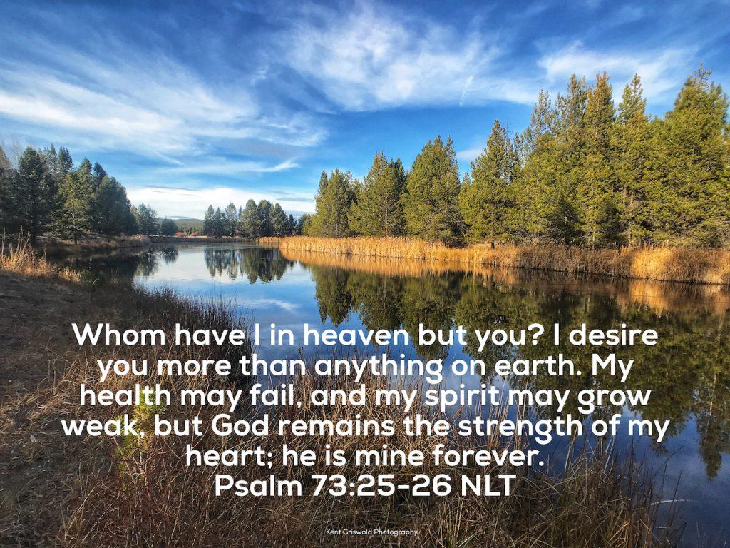 Health - Psalms 73:25-26