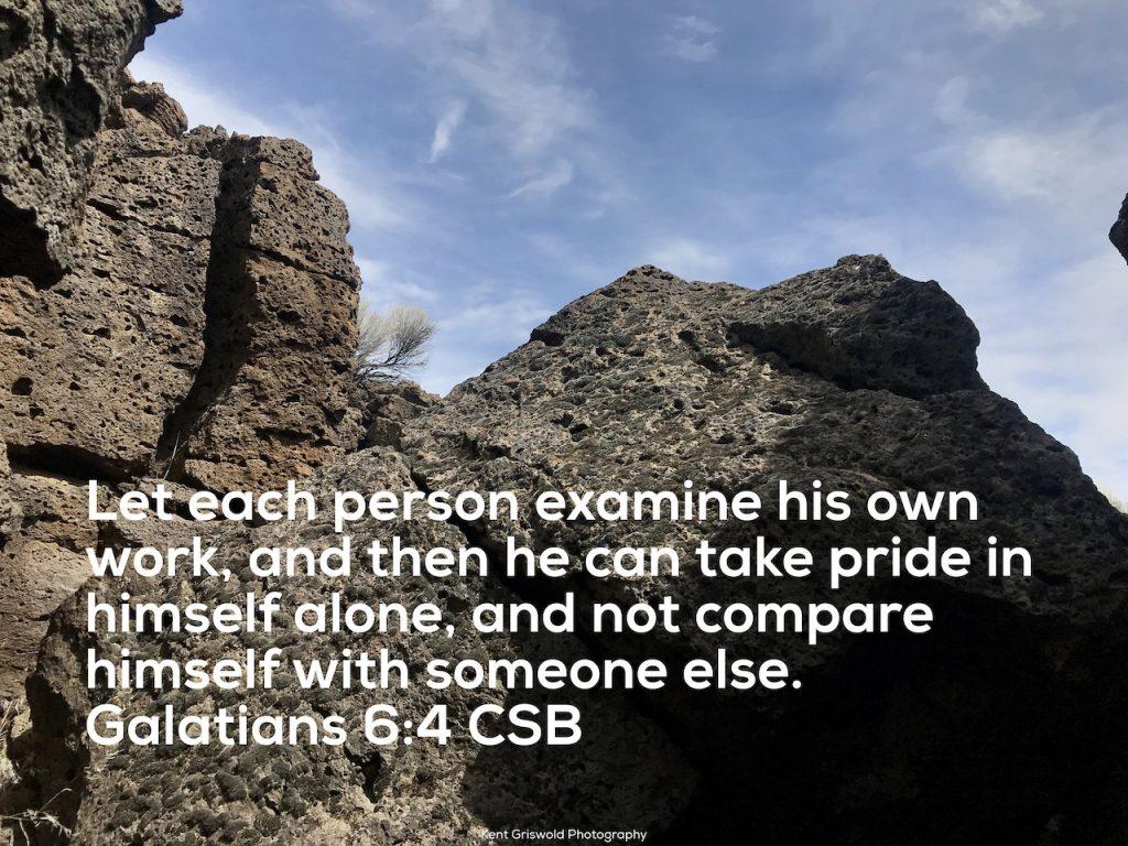 Compare - Galatians 6:4