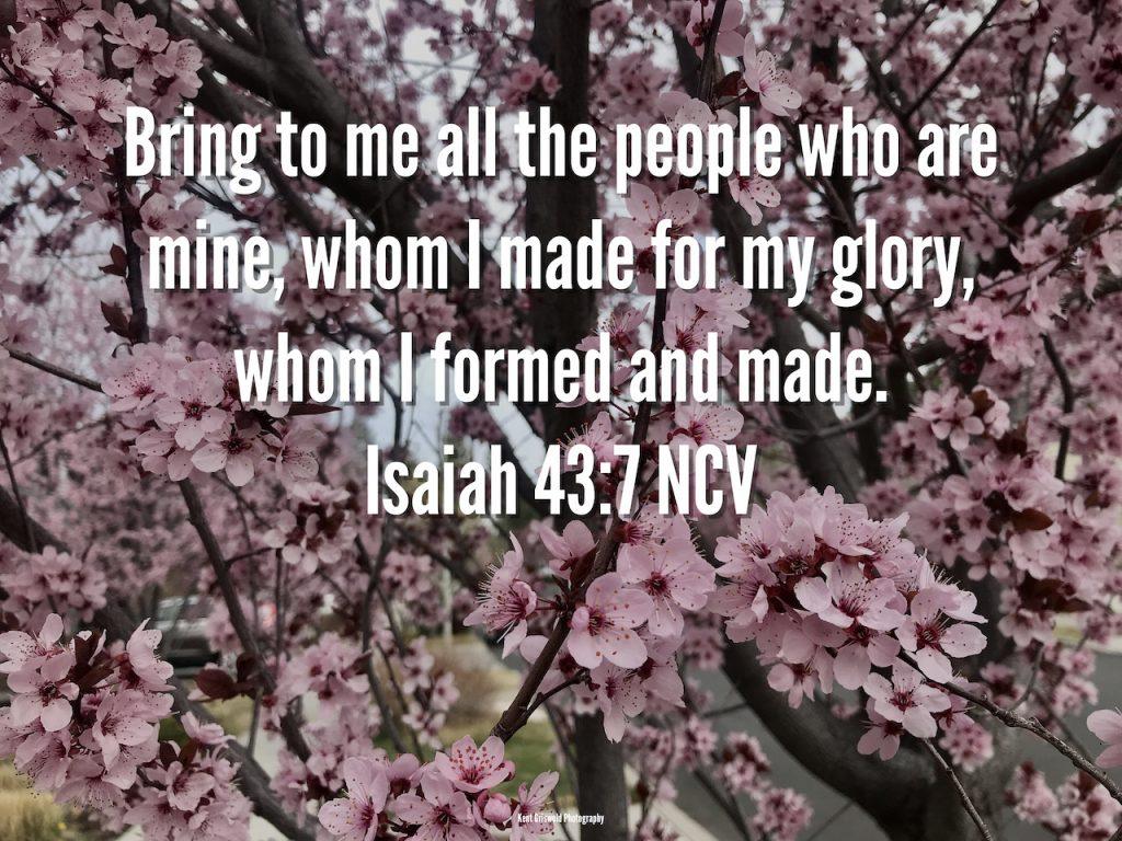 Glory - Isaiah 43:7