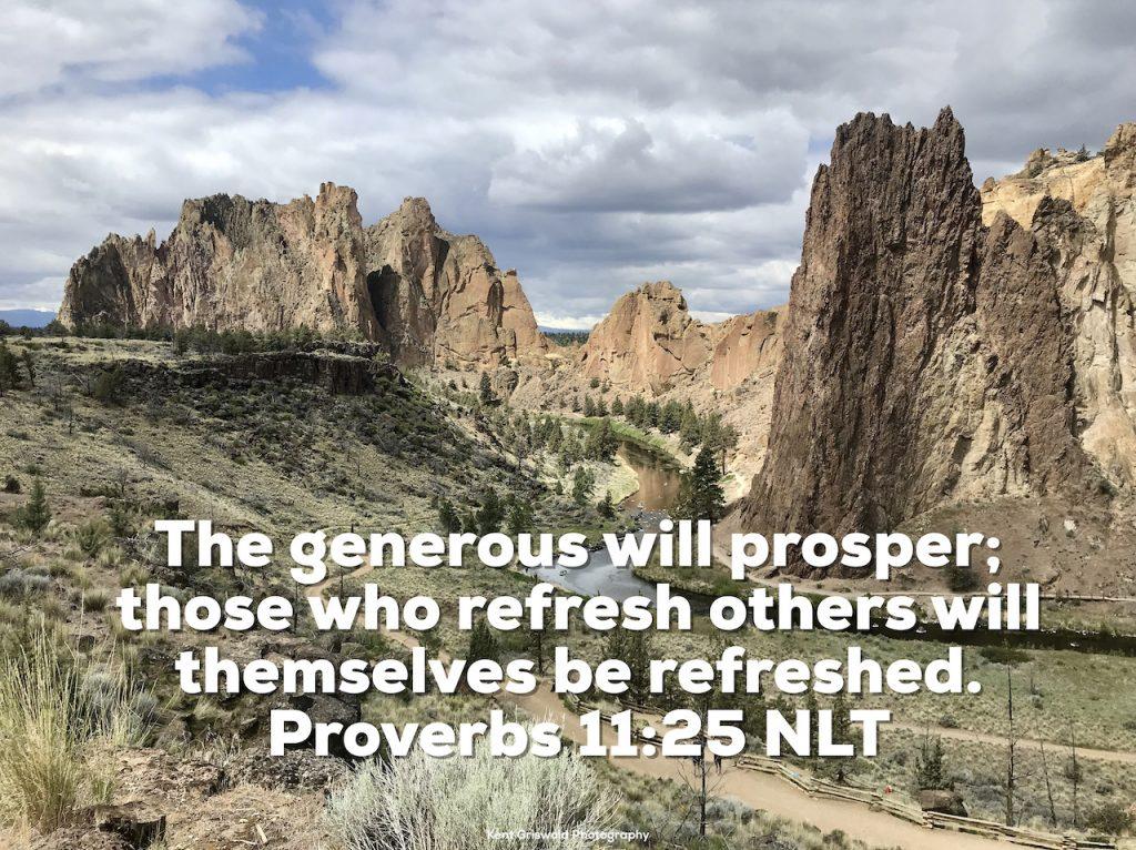 Refresh - Proverbs 11:25