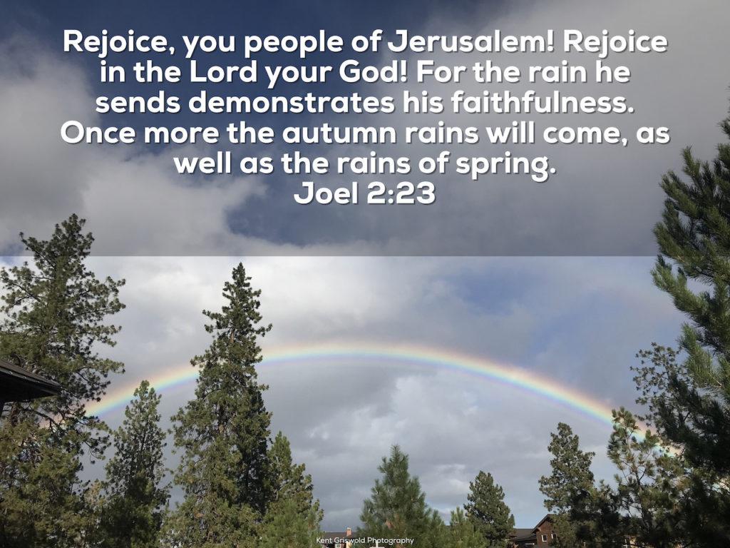 Faithfulness - Joel 2:23