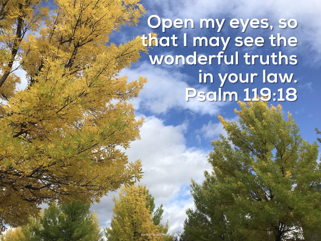 Truth - Psalm 119:18