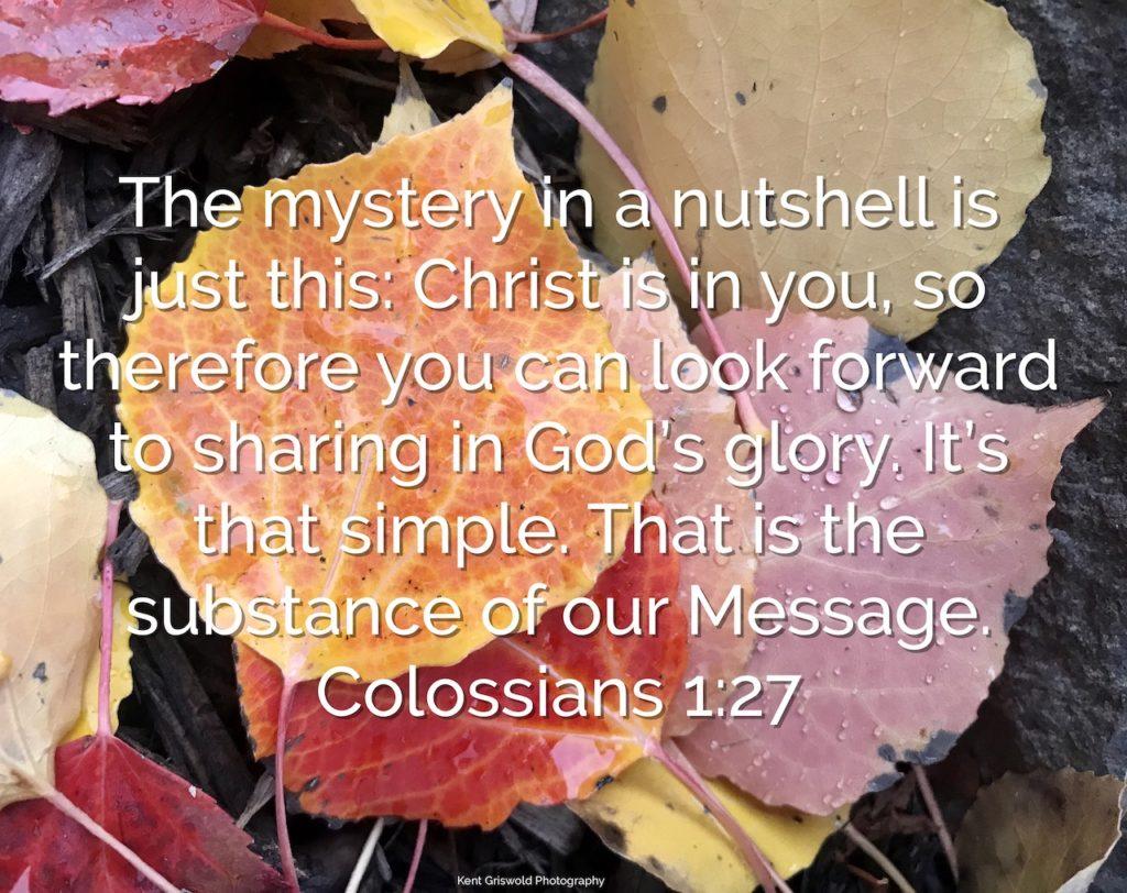 Message - Colossians 1:27