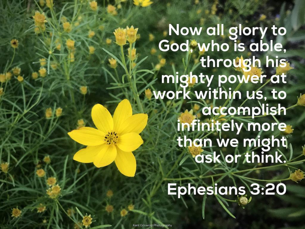 Glory - Ephesians 3:20